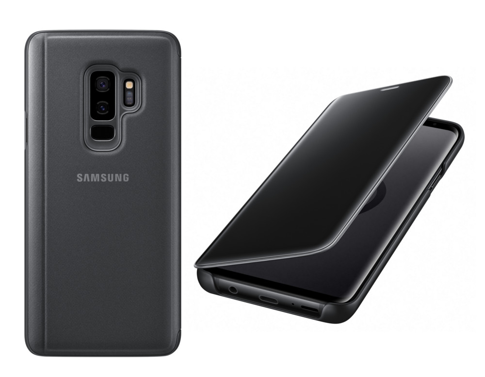 Аксессуар Чехол-книжка Samsung Galaxy S9 Plus Clear View Standing Cover Black EF-ZG965CBEGRU аксессуар чехол samsung galaxy note 8 led view cover gold ef nn950pfegru