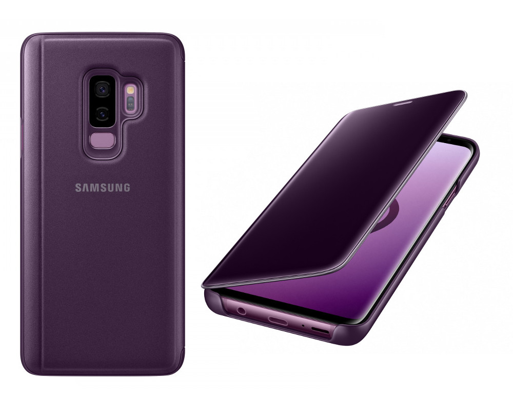 Аксессуар Чехол-книжка Samsung Galaxy S9 Plus Clear View Standing Cover Violet EF-ZG965CVEGRU аксессуар чехол книжка samsung galaxy s9 led view cover black ef ng960pbegru