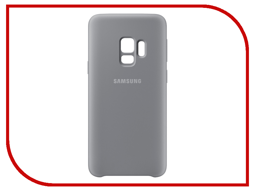 Аксессуар Чехол-накладка Samsung Galaxy S9 Silicone Cover Grey EF-PG960TJEGRU protective silicone back case w stand for samsung galaxy note 3 translucent grey white