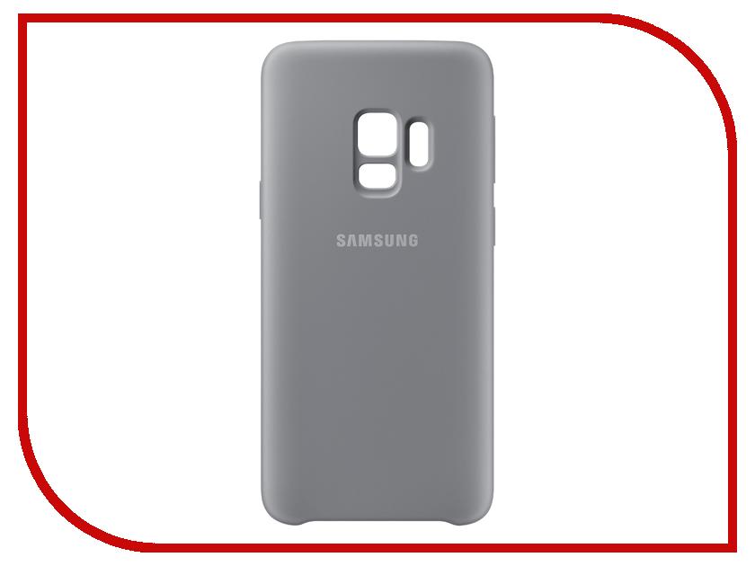 Аксессуар Чехол-накладка Samsung Galaxy S9 Silicone Cover Grey EF-PG960TJEGRU аксессуар чехол накладка samsung galaxy j2 2018 jelly cover pink ef aj250tpegru