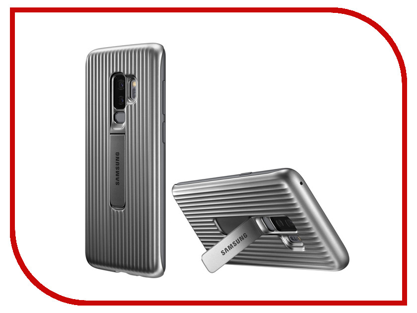 Аксессуар Чехол-накладка Samsung Galaxy S9 Plus Protective Standing Cover Silver EF-RG965CSEGRU case for samsung galaxy s9 shock proof rugged slim protective cover carb