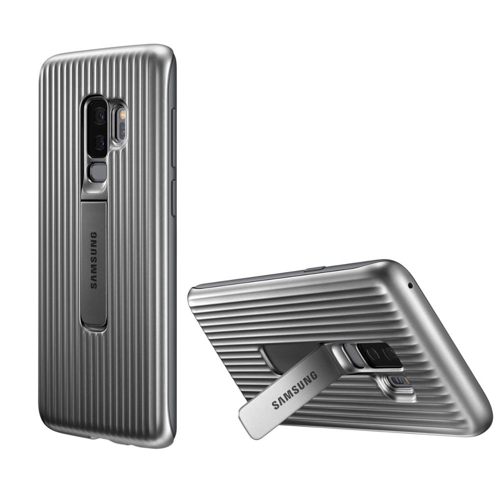 Аксессуар Чехол-накладка Samsung Galaxy S9 Plus Protective Standing Cover Silver EF-RG965CSEGRU