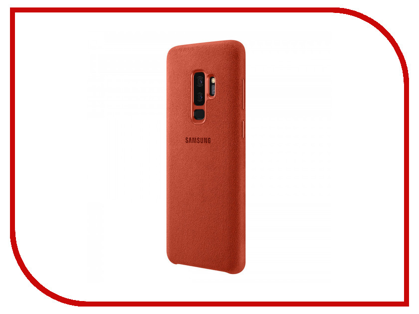 Аксессуар Чехол Samsung Galaxy S9 Plus Alcantara Cover Red EF-XG965AREGRU аксессуар чехол samsung galaxy s9 plus silicone cover light blue ef pg965tlegru