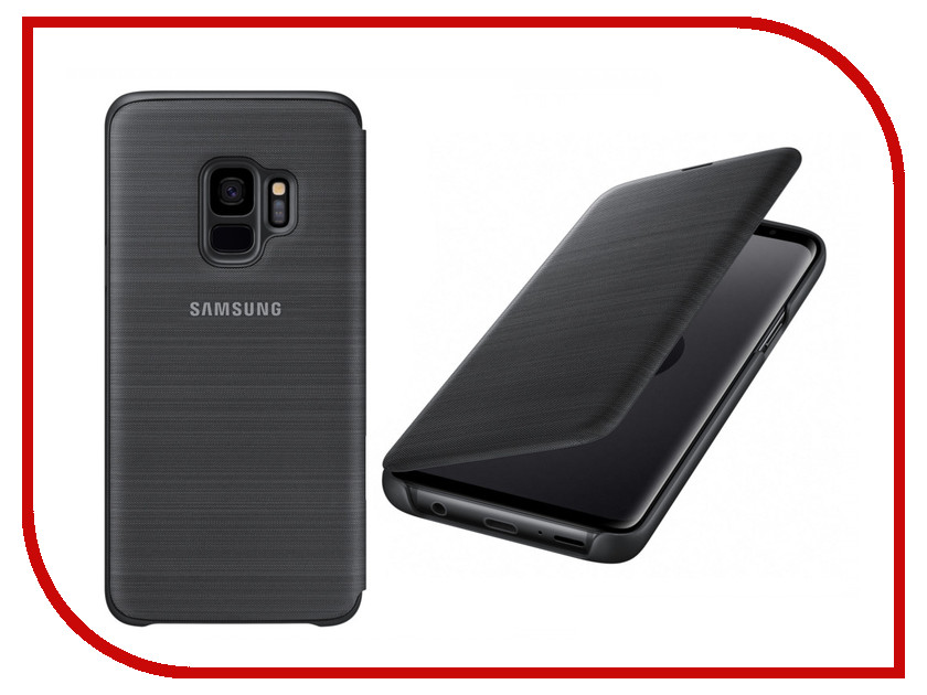 Аксессуар Чехол-книжка Samsung Galaxy S9 LED View Cover Black EF-NG960PBEGRU