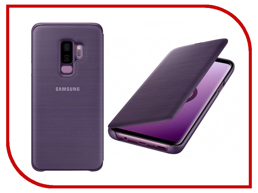 Аксессуар Чехол-книжка Samsung Galaxy S9 Plus LED View Cover Violet EF-NG965PVEGRU