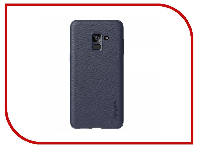 для Samsung GP-A730KDCPBIB  Аксессуар Чехол Samsung Galaxy A8 Plus 2018 Araree Airfit Prime Dark Blue GP-A730KDCPBIB