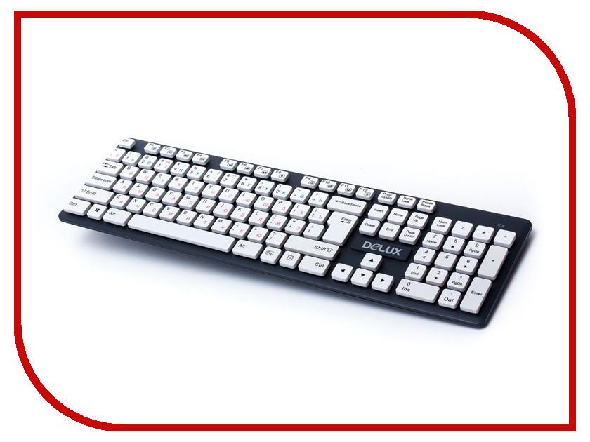 Клавиатура Delux DLK-150GW Black delux