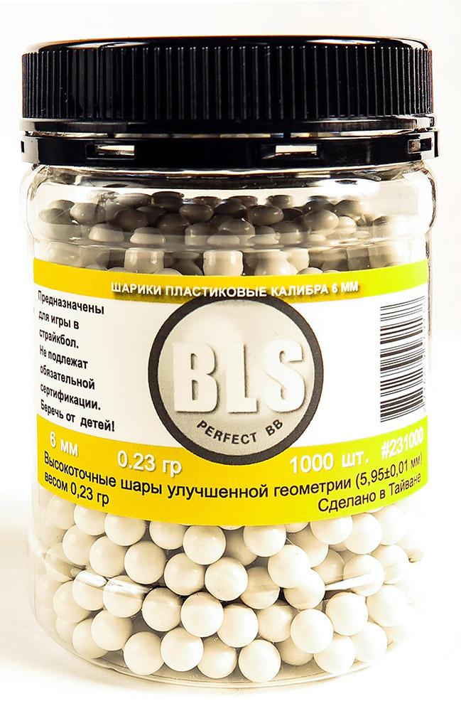 Шарики пластиковые BLS 0.23g 6mm 1000шт White