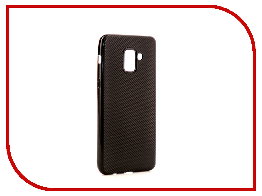 для Samsung NSTC3596  Аксессуар Чехол Samsung Galaxy A8 Plus 2018 Neypo Neon Carbon Silicone Black NSTC3596