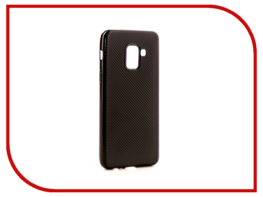 Аксессуар Чехол Samsung Galaxy A8 2018 Neypo Neon Carbon Silicone Black NSTC3595 аксессуар чехол samsung galaxy a7 2017 with love moscow silicone russia 5090