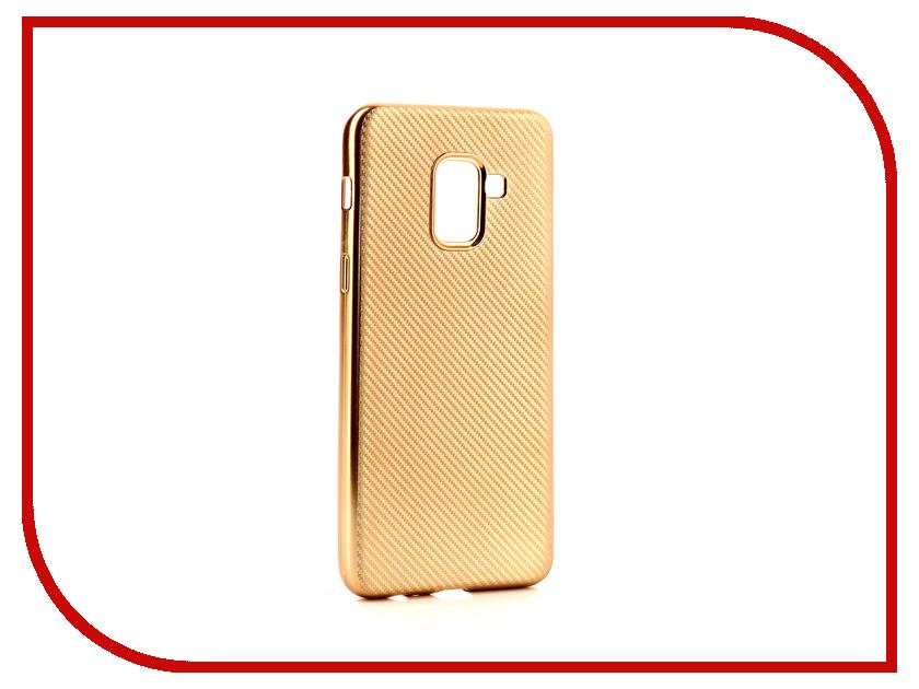 Аксессуар Чехол Samsung Galaxy A8 2018 Neypo Neon Carbon Silicone Gold NSTC3598 аксессуар чехол samsung galaxy a7 2017 with love moscow silicone russia 5090
