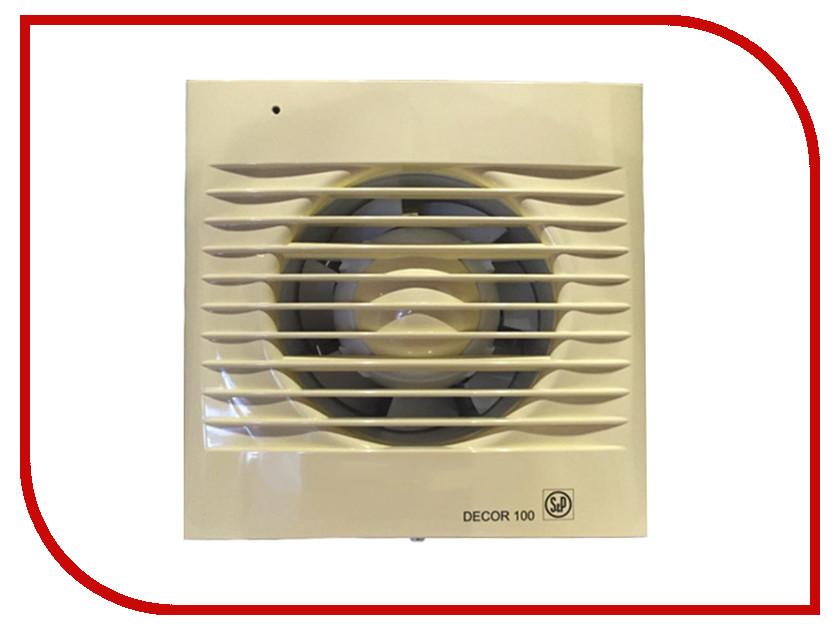 Вытяжной вентилятор Soler & Palau DECOR 100 C Ivory