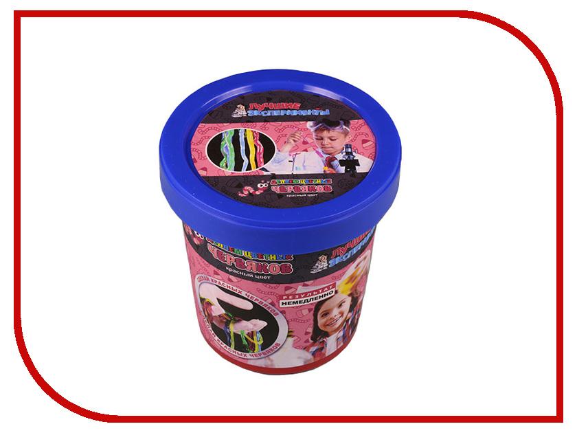 Игра Bumbaram Юный Химик Делаем цветных червяков Red Х045 игра bumbaram электролиз x027