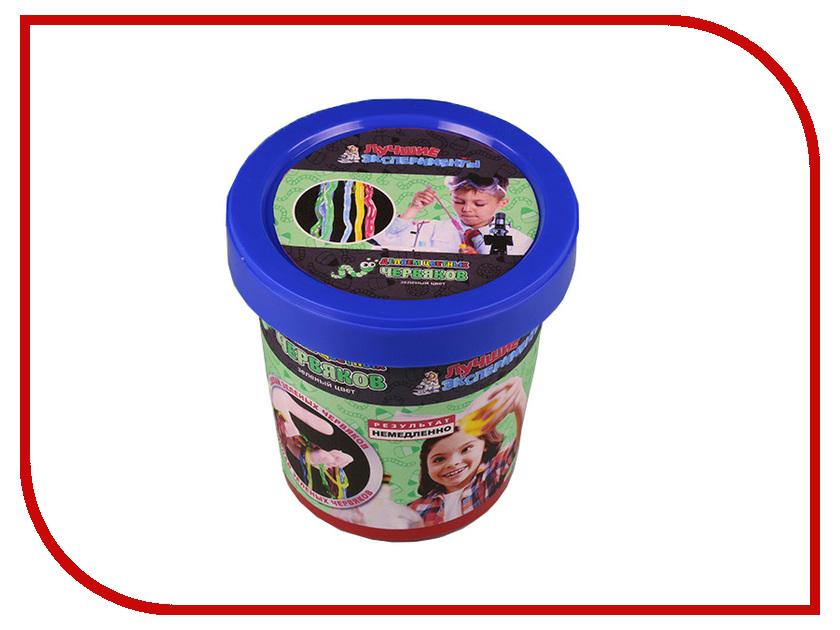 Игра Bumbaram Юный Химик Делаем цветных червяков Green Х047 игра bumbaram электролиз x027