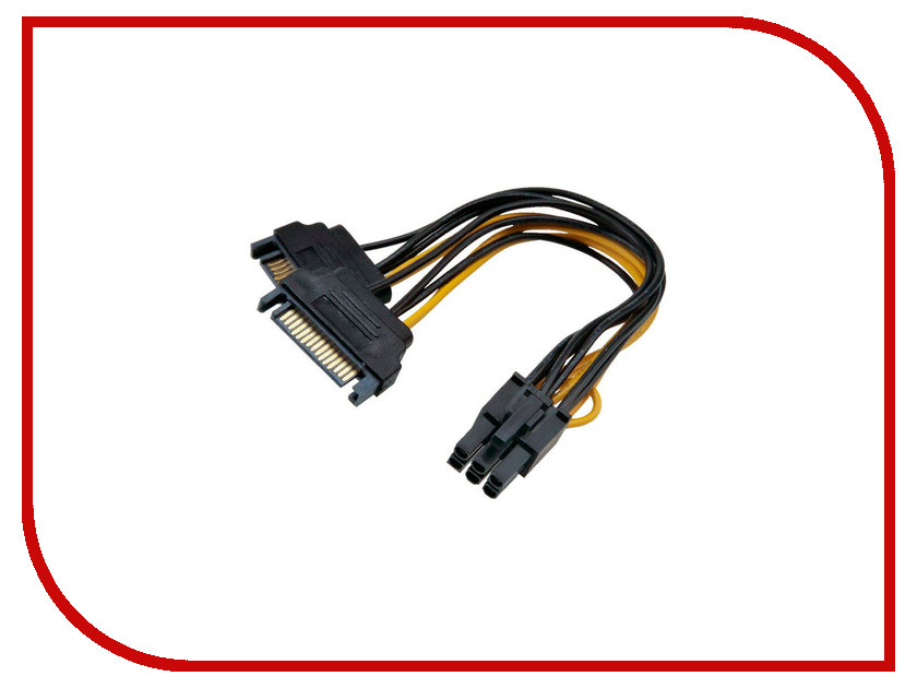 Аксессуар Переходник питания Orient C513 2xSATA 15pin (M) to 6pin 30513 кабель питания orient c908 2xsata y 0 16 м