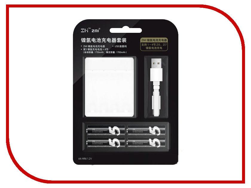 Зарядное устройство Xiaomi ZMI PB411 White - с аккумуляторами AA (4 шт)