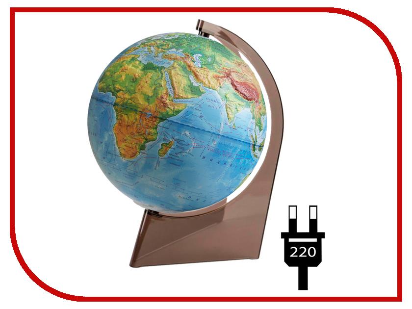 Глобус Глобусный мир Физический рельефный 210mm с подсветкой 10276