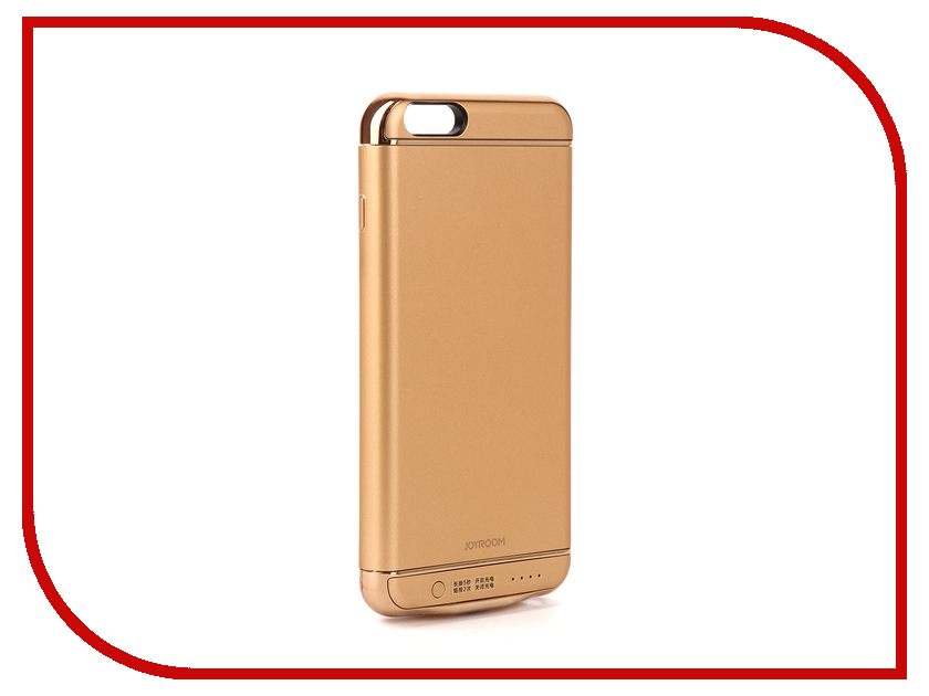 Аксессуар Чехол-аккумулятор JoyRoom Case Battery 3500 mAh Gold для APPLE iPhone 6S Plus аксессуар чехол аккумулятор red line power case 6000 mah для apple iphone 6 6s 7 black