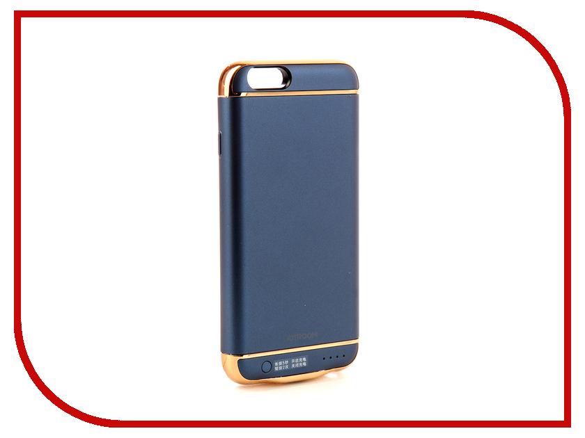 Аксессуар Чехол-аккумулятор JoyRoom Case Battery M124 2500 mAh Blue для APPLE iPhone 6S odoyo чехол аккумулятор odoyo для apple iphone 6 6s 3000mah пластик черный