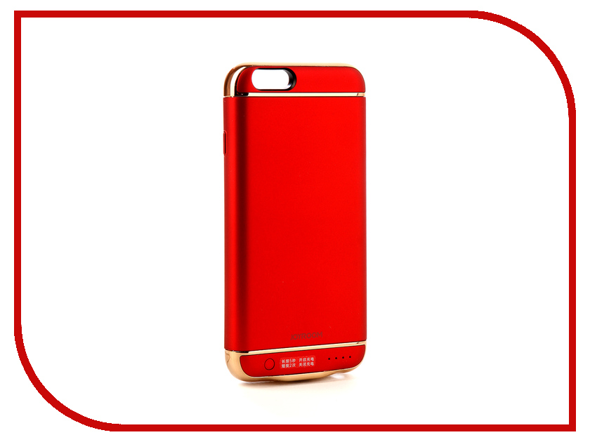 Аксессуар Чехол-аккумулятор JoyRoom Case Battery M124 2500 mAh Red для APPLE iPhone 6S чехол для apple iphone 6 iphone 6s leather case red