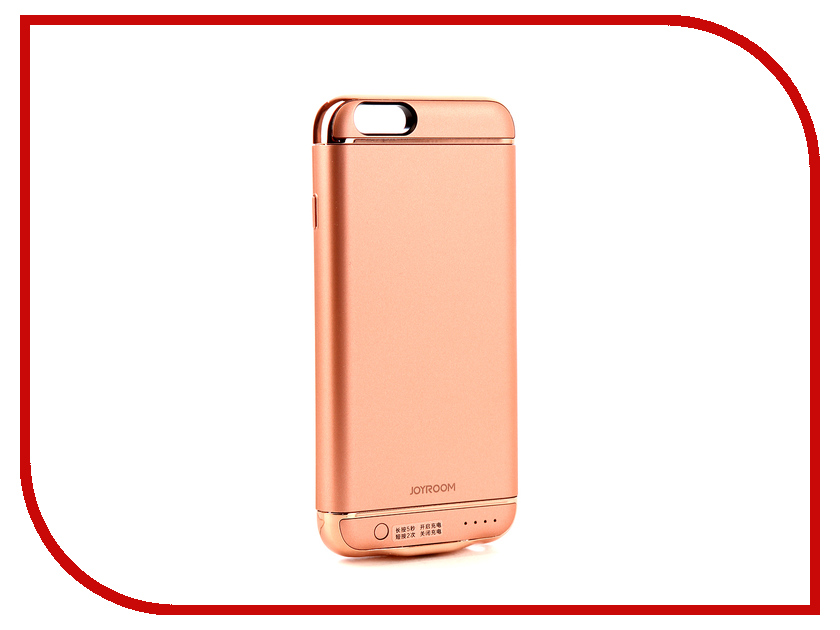 Аксессуар Чехол-аккумулятор JoyRoom Case Battery M124 2500 mAh Rose Gold для APPLE iPhone 6S чехол apple leather case для iphone 6 6s plus