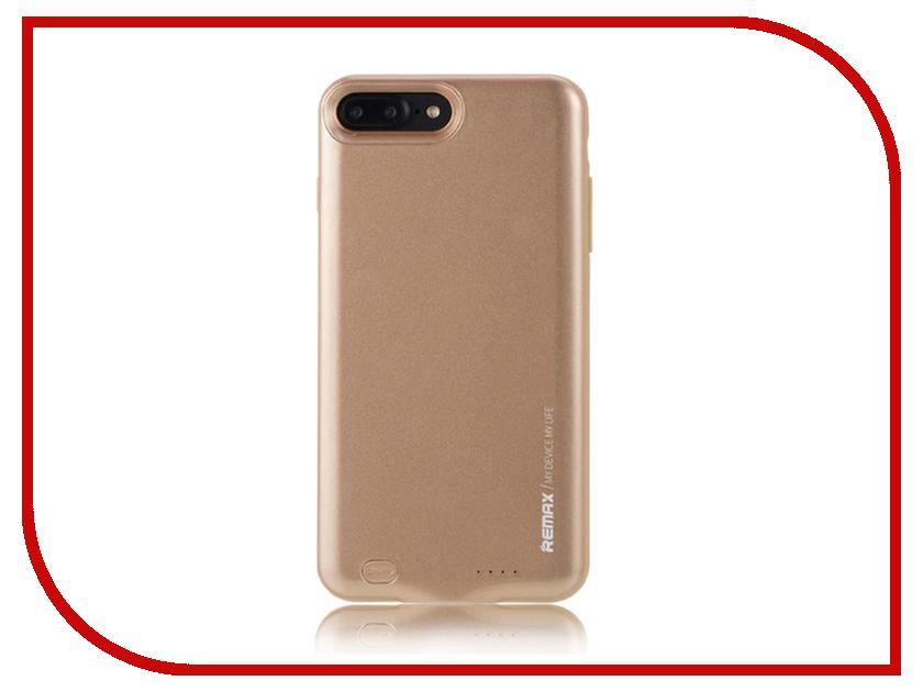 Аксессуар Чехол-аккумулятор Remax Penen Rechargeable PN-02 3400 mAh Gold для APPLE iPhone 7 Plus чехлы для телефонов remax чехол силиконовый apple iphone 7 4 7 remax waves синий