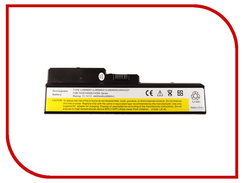 Аккумулятор 4parts LPB-Y430 для Lenovo IdeaPad Y430/V450/B430/N500 Series 11.1V 4400mAh напильник 203 мм truper lpb 8b 15221