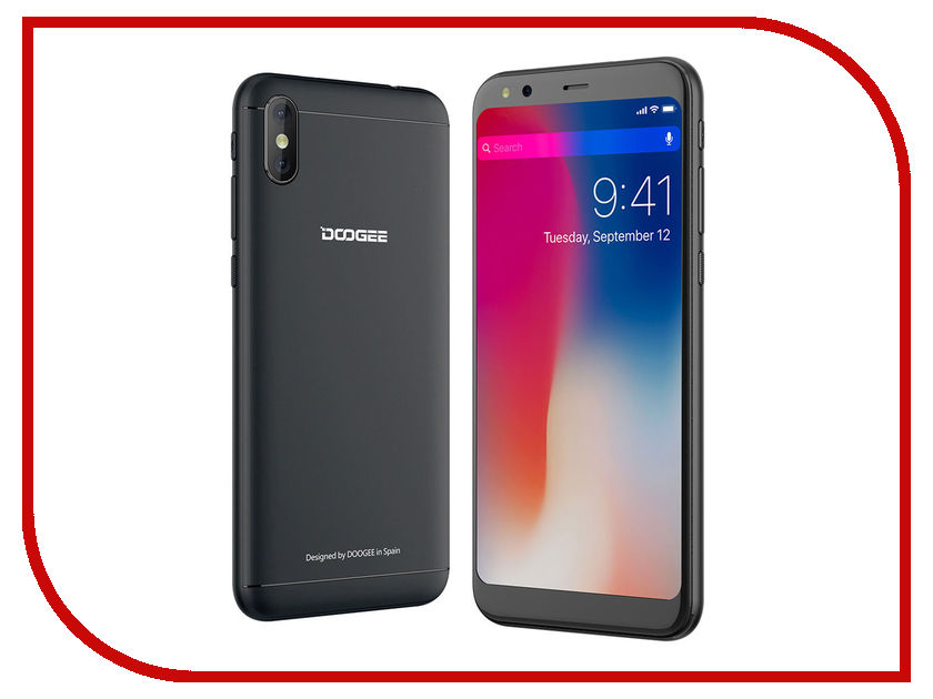 Сотовый телефон DOOGEE X53 Black смартфон doogee x53 16gb black смартфон