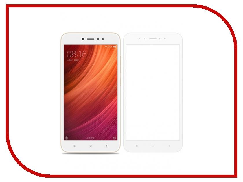 Аксессуар Защитное стекло Xiaomi Redmi Note 5A Media Gadget 2.5D Full Cover Glass White Frame MGFCXRN5AFGWT аксессуар защитная пленка lg l80 media gadget premium прозрачная mg885