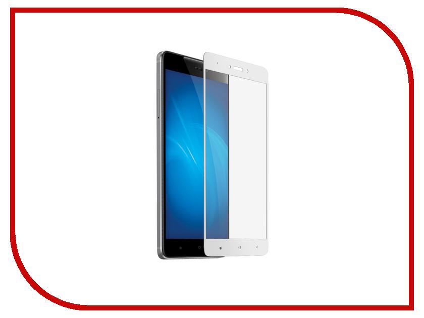 Аксессуар Защитное стекло Xiaomi Redmi Note 4X Media Gadget 2.5D Full Cover Glass White Frame MGFCXRN4XFGWT аксессуар защитная пленка alcatel onetouch idol alpha media gadget premium прозрачная mg986