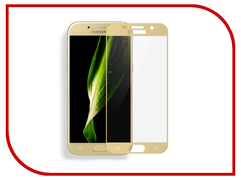 Аксессуар Защитное стекло для Samsung Galaxy A7 2017 Media Gadget 2.5D Full Cover Glass Gold Frame MGFCSGA717FGGD cover co139 02