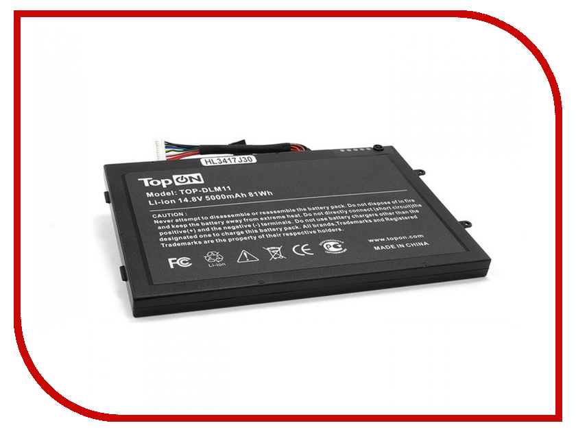 Аккумулятор TopON TOP-DLM11 14.8V 4400mAh для DELL Alienware M11X/M14x аккумулятор topon top k53 для 10 8v 4400mah pn a32 k53 a42 k53 a43ei241sv sl