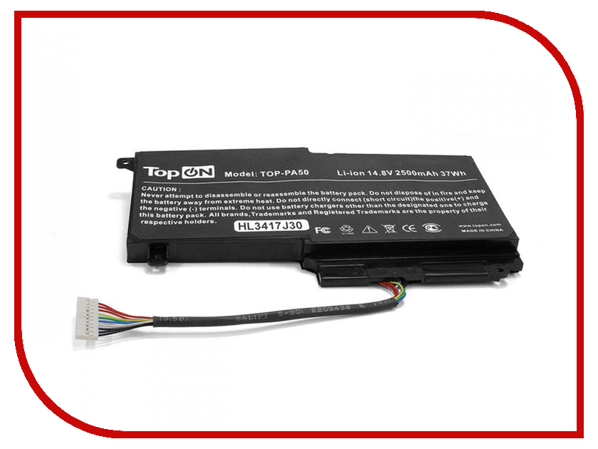 Аккумулятор TopON TOP-PA50 14.4V 2830mAh для Toshiba Satellite L50/P50/S50 аккумулятор topon top k53 для 10 8v 4400mah pn a32 k53 a42 k53 a43ei241sv sl