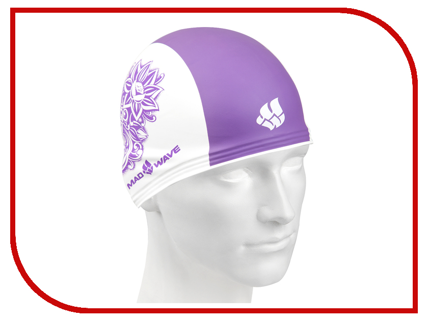 Шапочка Mad Wave Training Flower White/Violet M0553 12 0 09W шапочка mad wave lux shower red m0517 02 0 05w