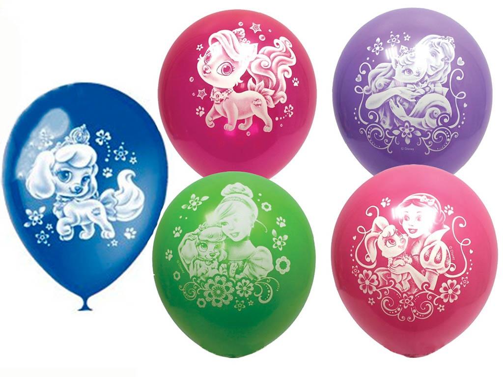 Набор воздушных шаров Поиск Дисней Принцессы 30cm 5шт Х-110 4690296033972
