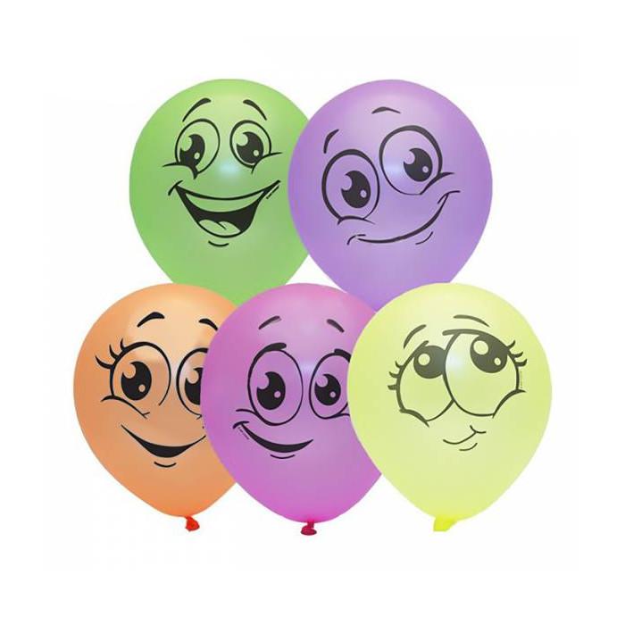 Набор воздушных шаров Поиск Улыбки 25cm 10шт 4690296054342