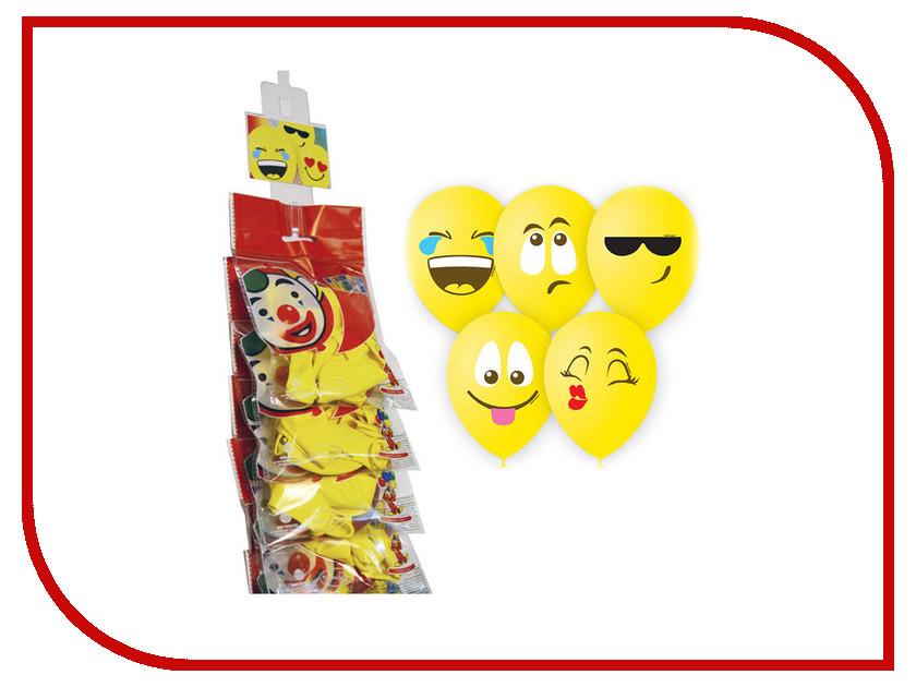 Набор воздушных шаров ПОИСК Эмоции Смайл 30cm 5шт 4690296054335