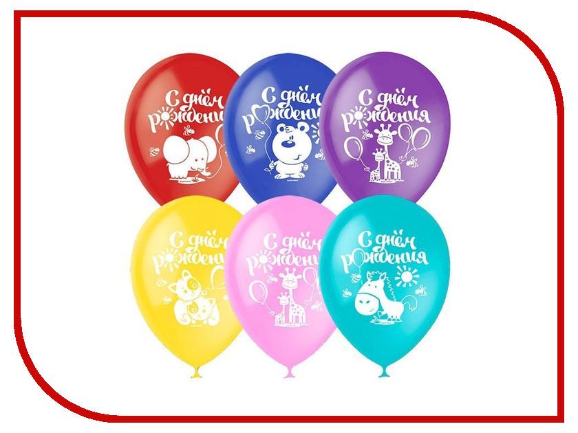 Набор воздушных шаров ПОИСК С Днём рождения 30cm 5шт 4690296054328 поиск