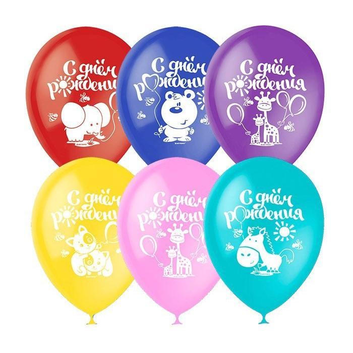 Набор воздушных шаров Поиск С Днём рождения 30cm 5шт 4690296054328