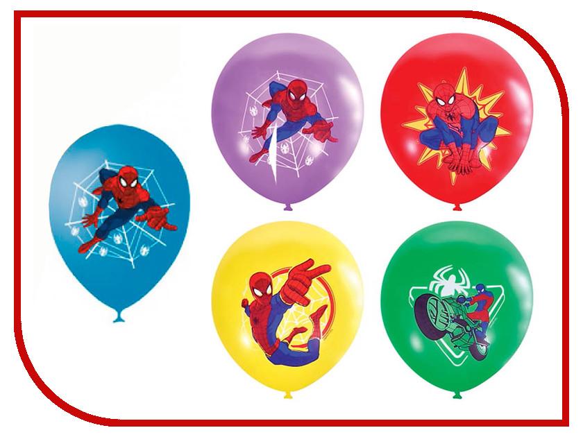 Набор воздушных шаров ПОИСК Марвел Человек-Паук 30cm 5шт Х-113 4690296038106