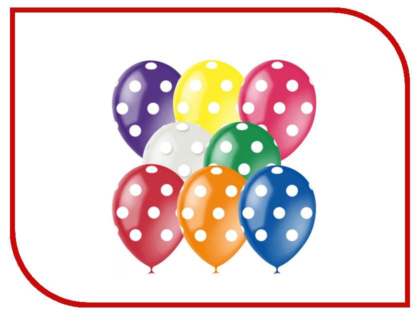 Набор воздушных шаров ПОИСК Яркий горошек 30cm 5шт 4690296054359