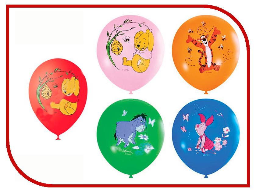 Набор воздушных шаров ПОИСК Дисней Винни 30cm 5шт Х-112 4690296037376 поиск авиарейса