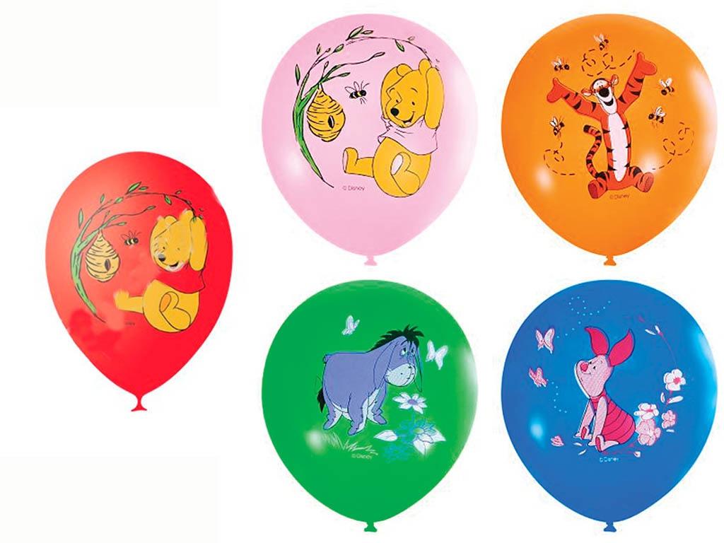 Набор воздушных шаров Поиск Дисней Винни 30cm 5шт Х-112 4690296037376