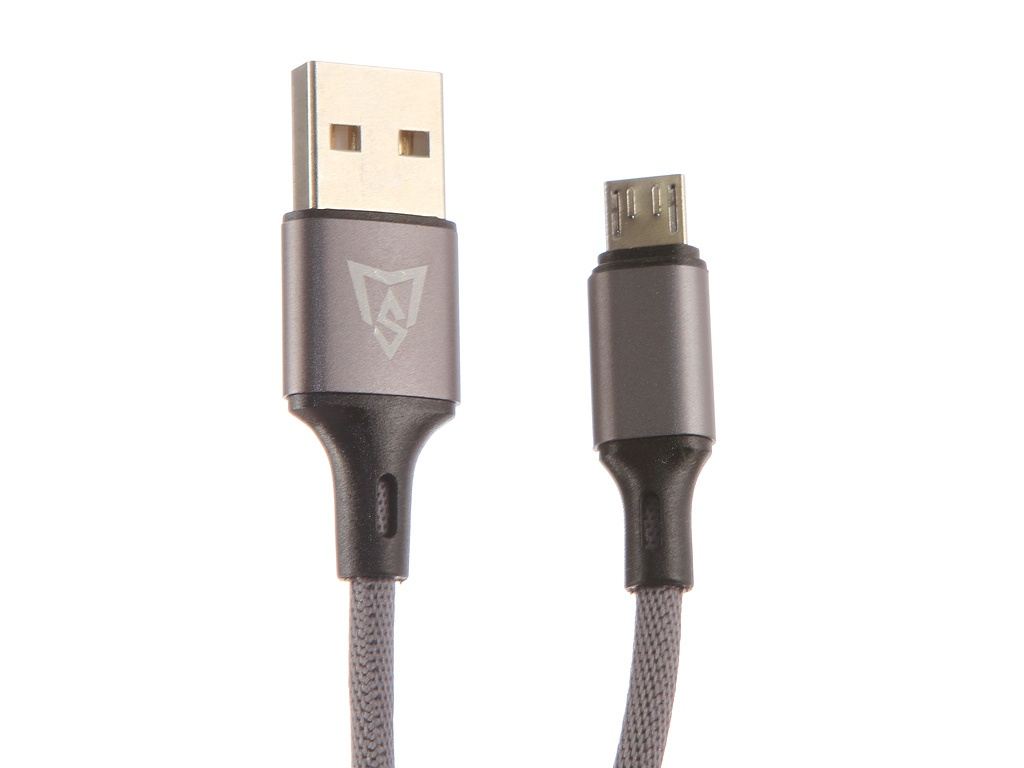 Аксессуар Monsterskin Raptor USB - microUSB 2.0m Grey 11393