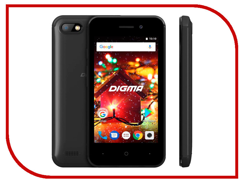 Сотовый телефон Digma HIT Q401 3G Black смартфон 5 digma vox s505