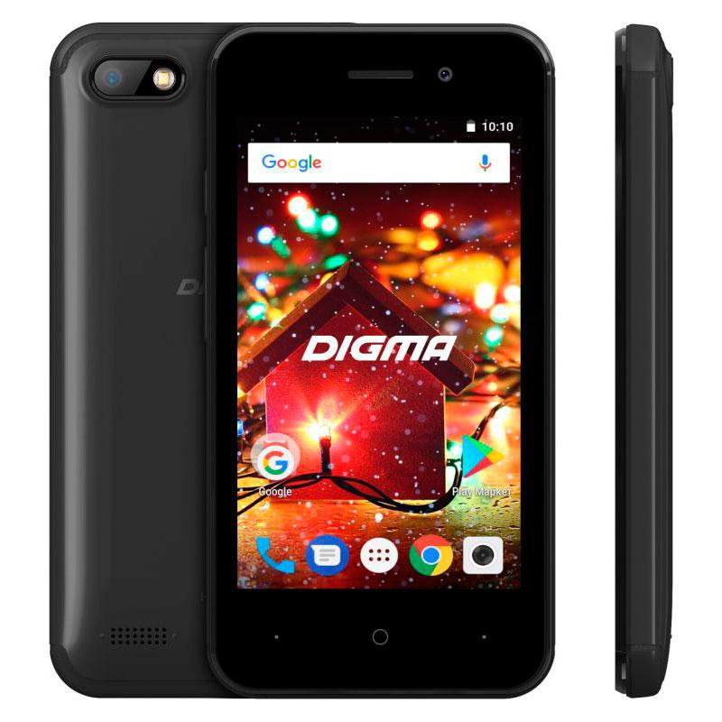 Сотовый телефон Digma HIT Q401 3G Black мобильный телефон digma hit q500 3g черный