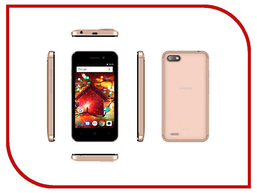 Сотовый телефон Digma HIT Q401 3G Gold сотовый телефон digma vox s504 3g white