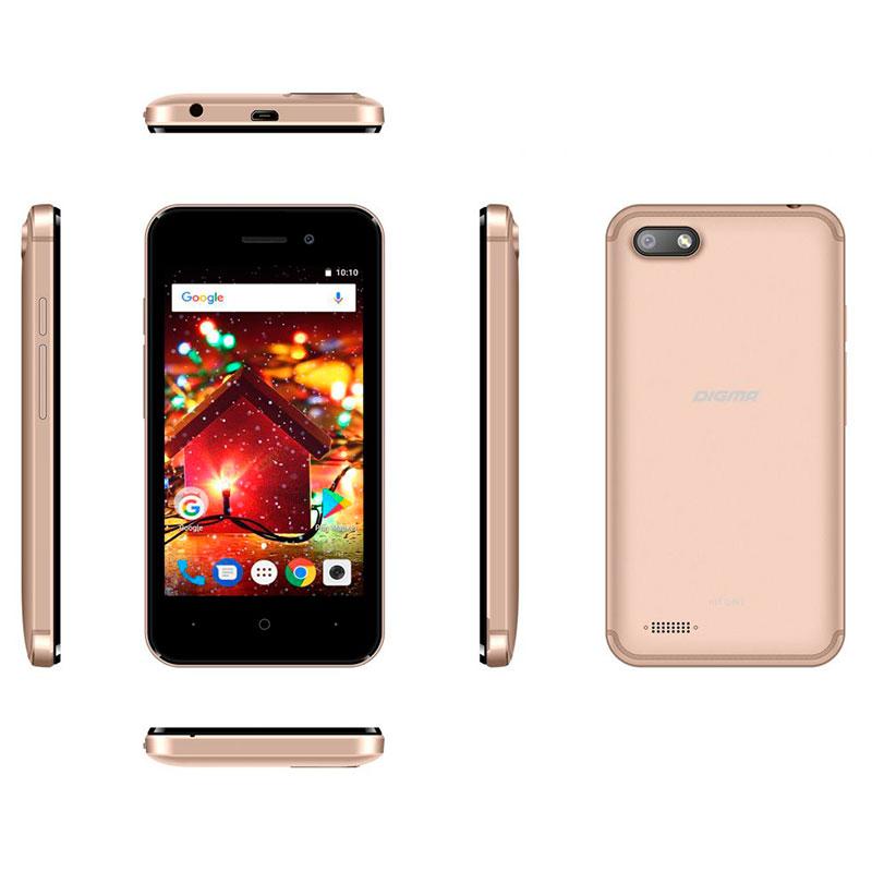 Сотовый телефон Digma HIT Q401 3G Gold мобильный телефон digma hit q500 3g черный