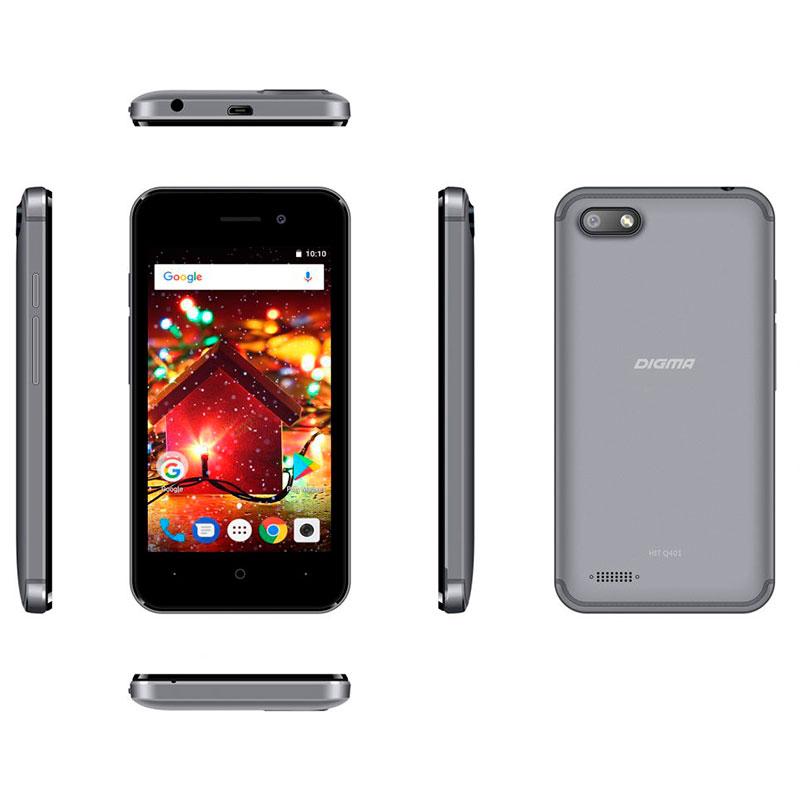 Сотовый телефон Digma HIT Q401 3G Gray сотовый телефон digma vox s507 4g white