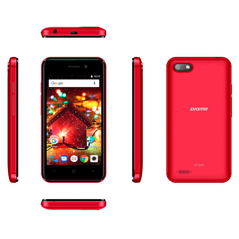 Сотовый телефон Digma HIT Q401 3G Red мобильный телефон digma hit q500 3g черный